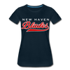 New Haven Blades Blue Women's T-Shirt - deep navy