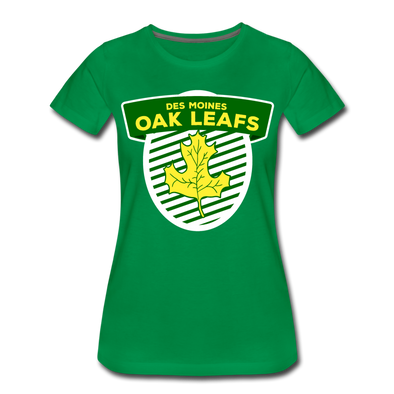 Des Moines Oak Leafs Shield Women's T-Shirt - kelly green