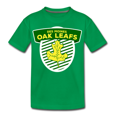 Des Moines Oak Leafs T-Shirt (Youth) - kelly green