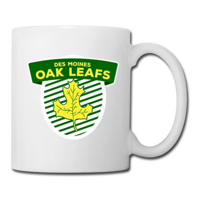 Des Moines Oak Leafs Shield Mug - white