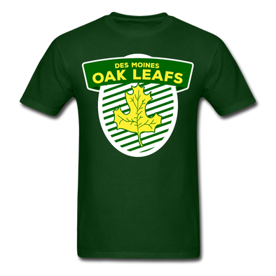 Des Moines Oak Leafs Shield T-Shirt - forest green