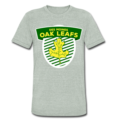 Des Moines Oak Leafs T-Shirt (Tri-Blend Super Light) - heather gray