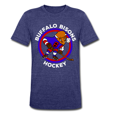 Buffalo Bisons T-Shirt (Tri-Blend Super Light) - heather indigo