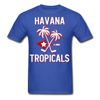 Havana Tropicals Palm T-Shirt - royal blue