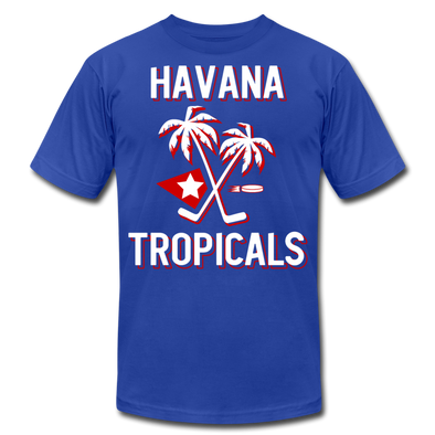 Havana Tropicals Palm T-Shirt (Premium Lightweight) - royal blue