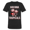 Havana Tropicals T-Shirt (Tri-Blend Super Light) - heather black