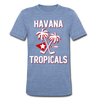 Havana Tropicals T-Shirt (Tri-Blend Super Light) - heather Blue