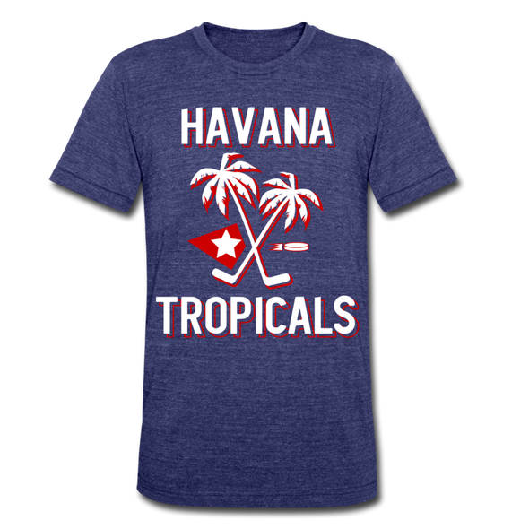 Havana Tropicals T-Shirt (Tri-Blend Super Light) - heather indigo