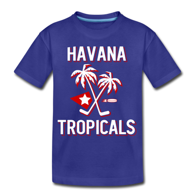 Havana Tropicals T-Shirt (Youth) - royal blue