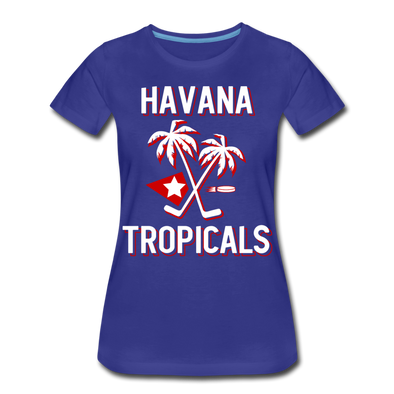 Havana Tropicals Palm Women's T-Shirt - royal blue