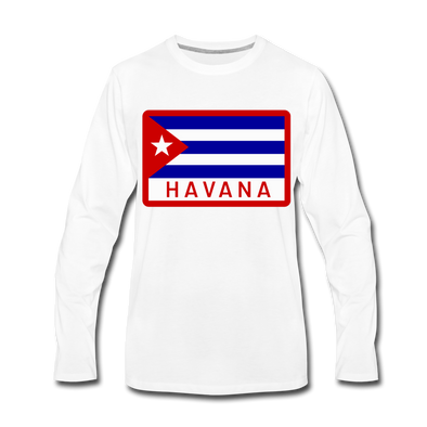Havana Tropicals Logo Long Sleeve T-Shirt - white