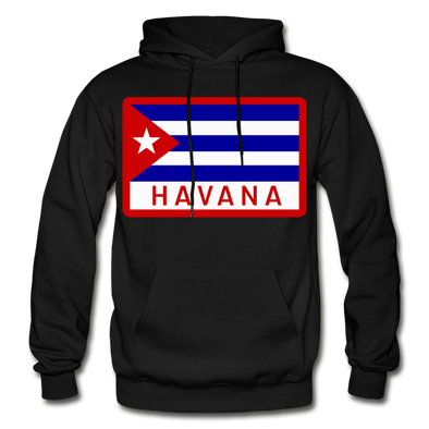 Havana Tropicals Double Sided Hoodie - black