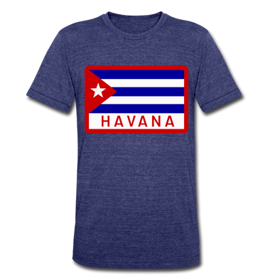 Havana Tropicals Logo T-Shirt (Tri-Blend Super Light) - heather indigo