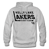 Kelly Lake Lakers Number 12 - heather gray