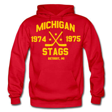 Michigan Stags Double Sided Hoodie - red
