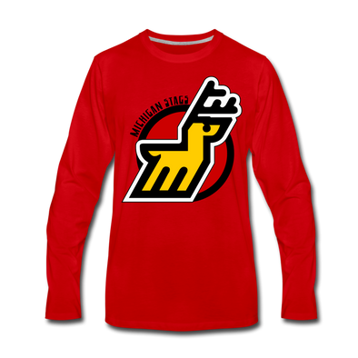 Michigan Stags Long Sleeve T-Shirt - red