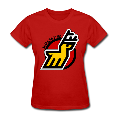 Michigan Stags Women's T-Shirt - red