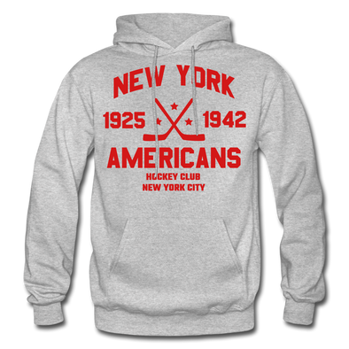 New York Americans Dated Hoodie - heather gray