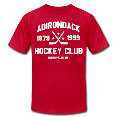 Adirondack Hockey Club T-Shirt (Red, Premium Lightweight) - red
