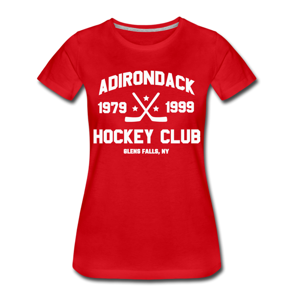 Adirondack Hockey Club Women's T-Shirt (Red) - red