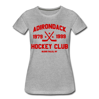 Adirondack Hockey Club Women's T-Shirt - heather gray
