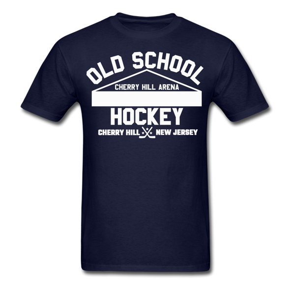 Cherry Hill Arena Old School Hockey T-Shirt - navy