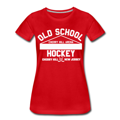 Cherry Hill Arena Old School Hockey Women's T-Shirt - red