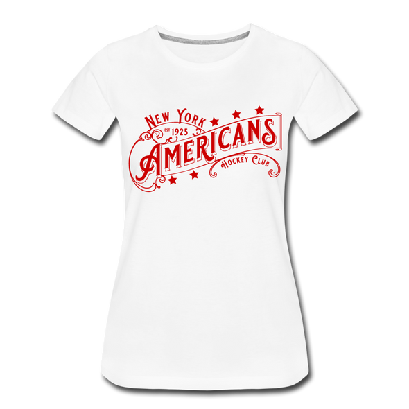 New York Americans Women's T-Shirt - white