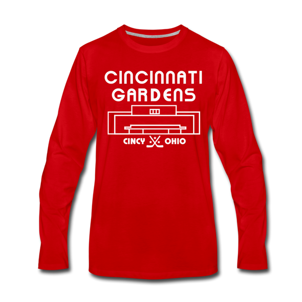 Cincinnati Gardens Long Sleeve T-Shirt - red