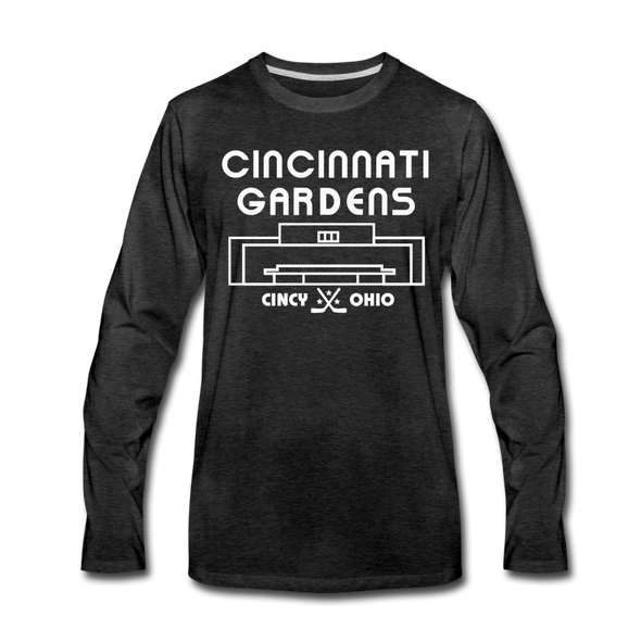 Cincinnati Gardens Long Sleeve T-Shirt - charcoal gray