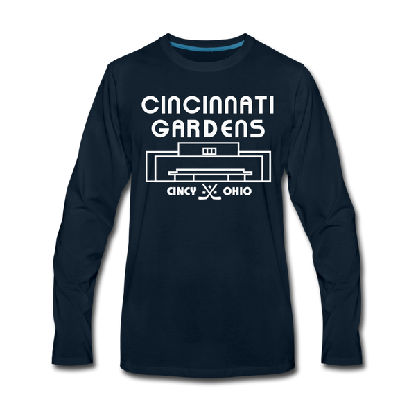 Cincinnati Gardens Long Sleeve T-Shirt - deep navy