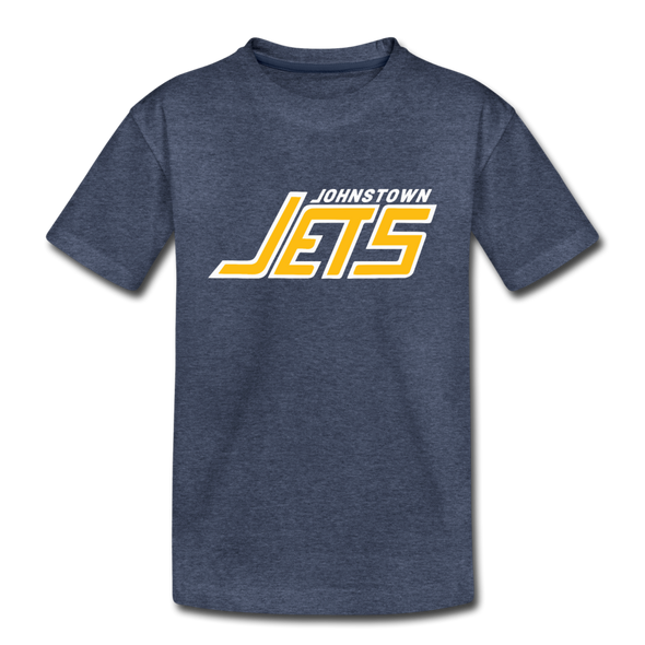 Johnstown Jets 1970s T-Shirt (Youth) - heather blue