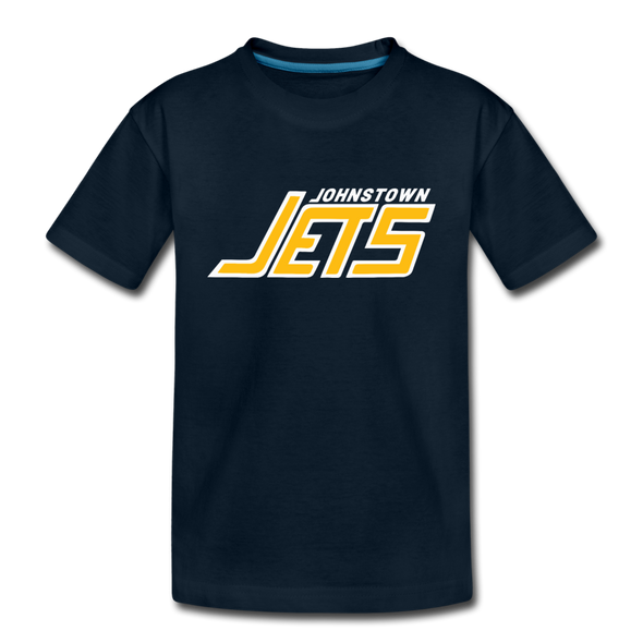 Johnstown Jets 1970s T-Shirt (Youth) - deep navy