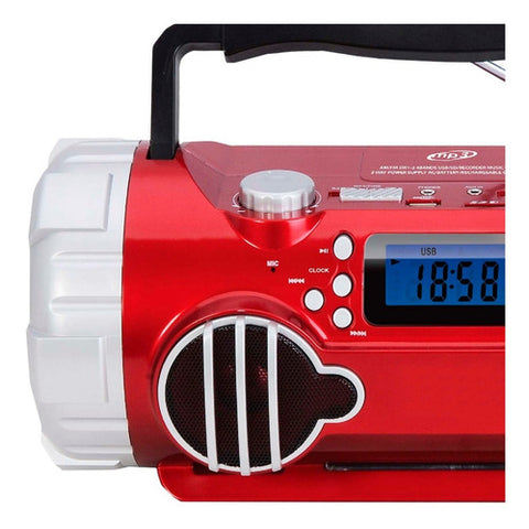Boombox Technical Pro Portatil Inalambrico Rojo Bluetooth