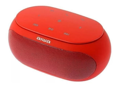 Corneta Aiwa Portatil Bluetooth Aux Mp3 Recargable Roja