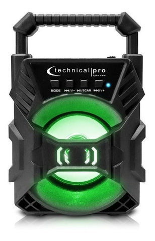 "Corneta Technical 4"" Pro 100 Watts Recargable Bluetooth Led Speaker"