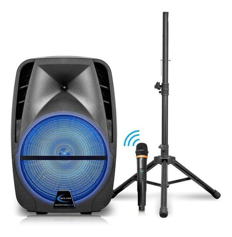 Corneta Technical Pro 12 3.000 Watts Bluetooth Led