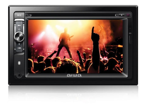 Reproductor Audio y Video Aiwa 2 Din Pantalla 6.2'' 25 Vatios AV, USB, RCA