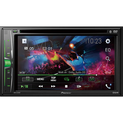 "Reproductor Pioneer Doble Din Dvd 6.22"" WVGA Pantalla Tactil Bluetooth, Ipod, Iphone"