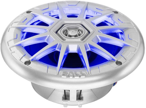"Cornetas Boss 6.5"" 200 Watts Boat Marine RGB LED Light Speakers Blanco"