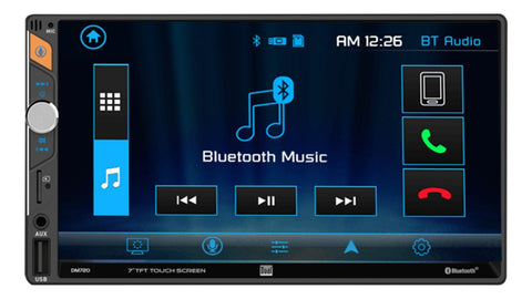 "Reproductor De Pantalla 7"" Dual Camara Hd Doble Din Bluetooth"