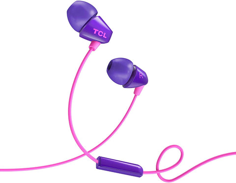 Audifonos Tcl Tapon Alambricos Purpura