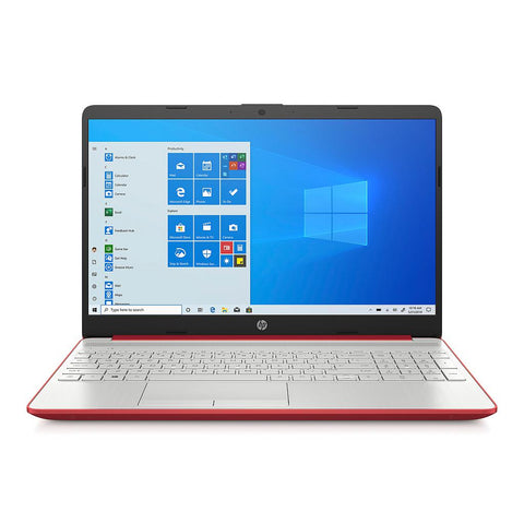 "Laptop Hp 15"" Intel Pentium Gold 6405U Rojo Escarlata"
