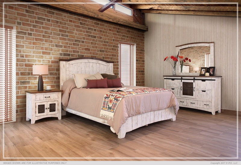 360 PUEBLO WHITE BEDROOM SET