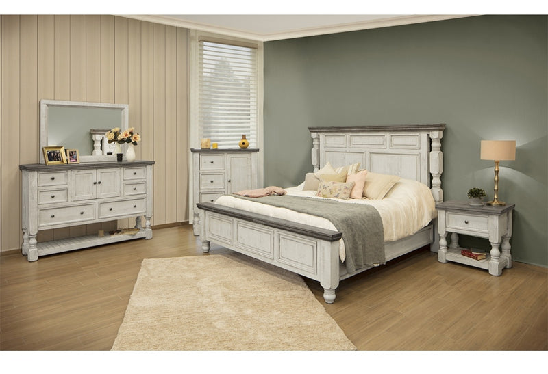 4 PC 4690 STONE BEDROOM SET