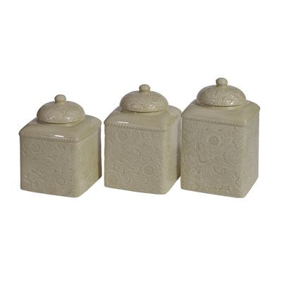 Savannah Taupe 3 Piece Canister Set