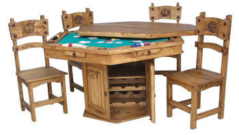 Description: Multi Purpose Poker Table Suitable For Gaming Or Dining  Featuring Lift Off Top
