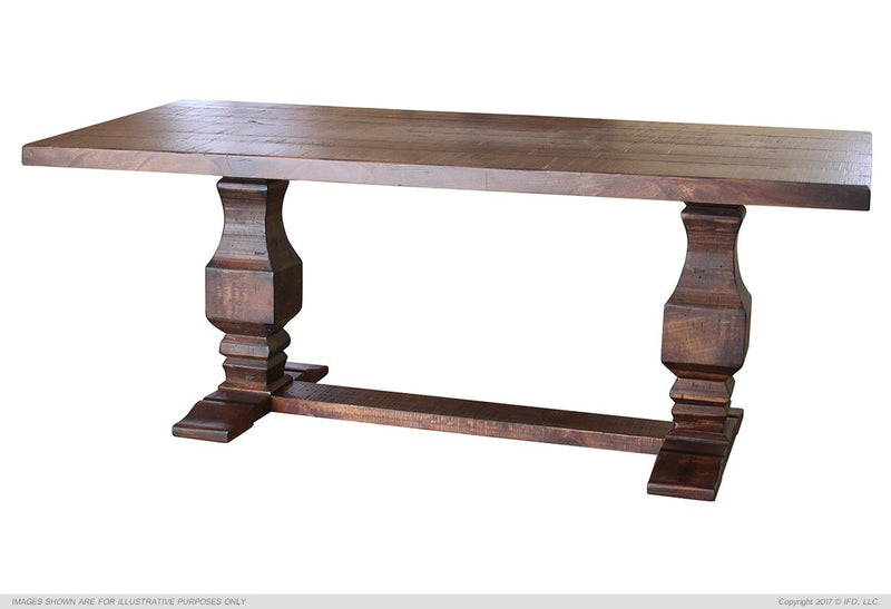 1025 TERRA Wooden table base & Wooden table top