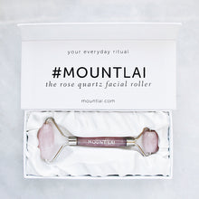 Load image into Gallery viewer, MOUNT LAI Rose Quartz Facial Roller 精華注入玫瑰水晶滾輪