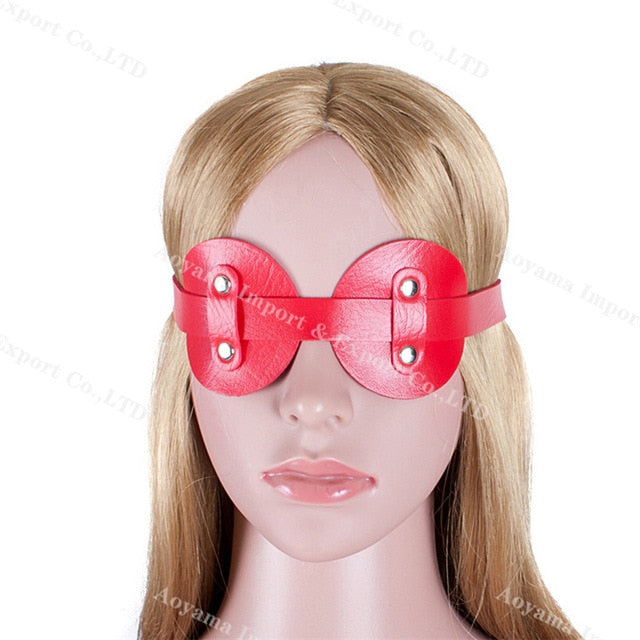 2019 Leather Blindfold Sexy Eye Mask Sex Patch Adult Games BDSM Flirt Sex Toys Mask for Couples